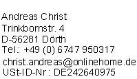 Impressum der Domain Fernsehen-Digital.org